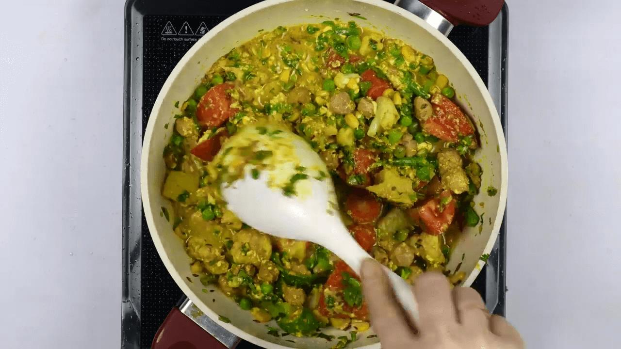 Vegetable Pulao step-5