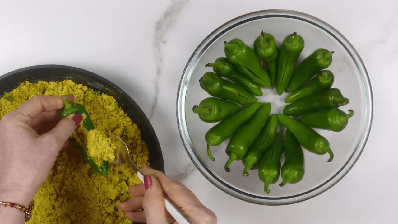 Stuffed Green Chili step-6