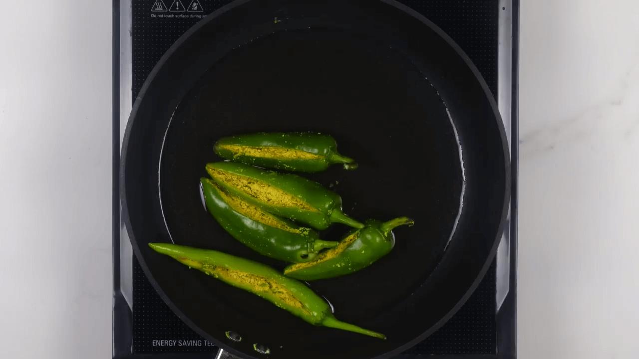 Stuffed Green Chili step-7