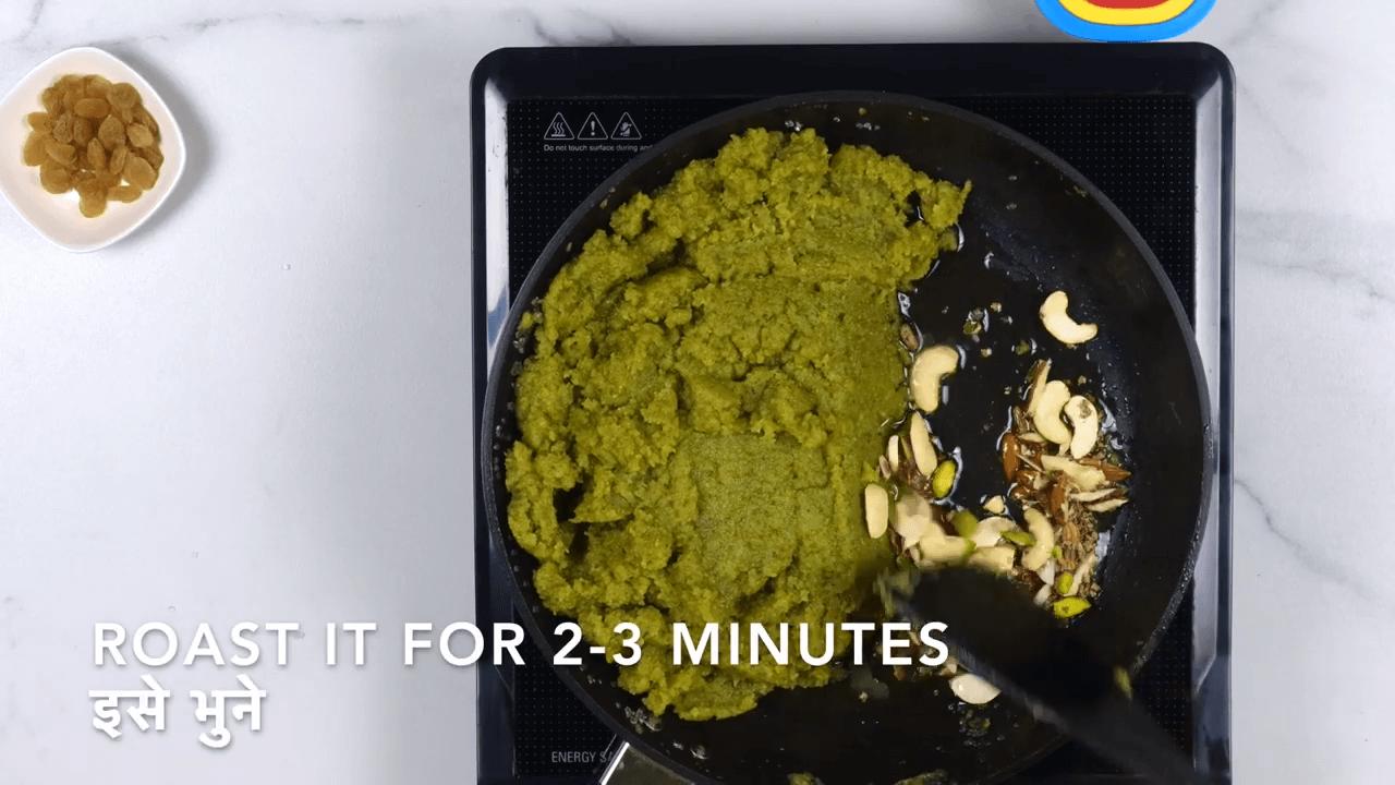 Green Moong Dal Halwa step-5