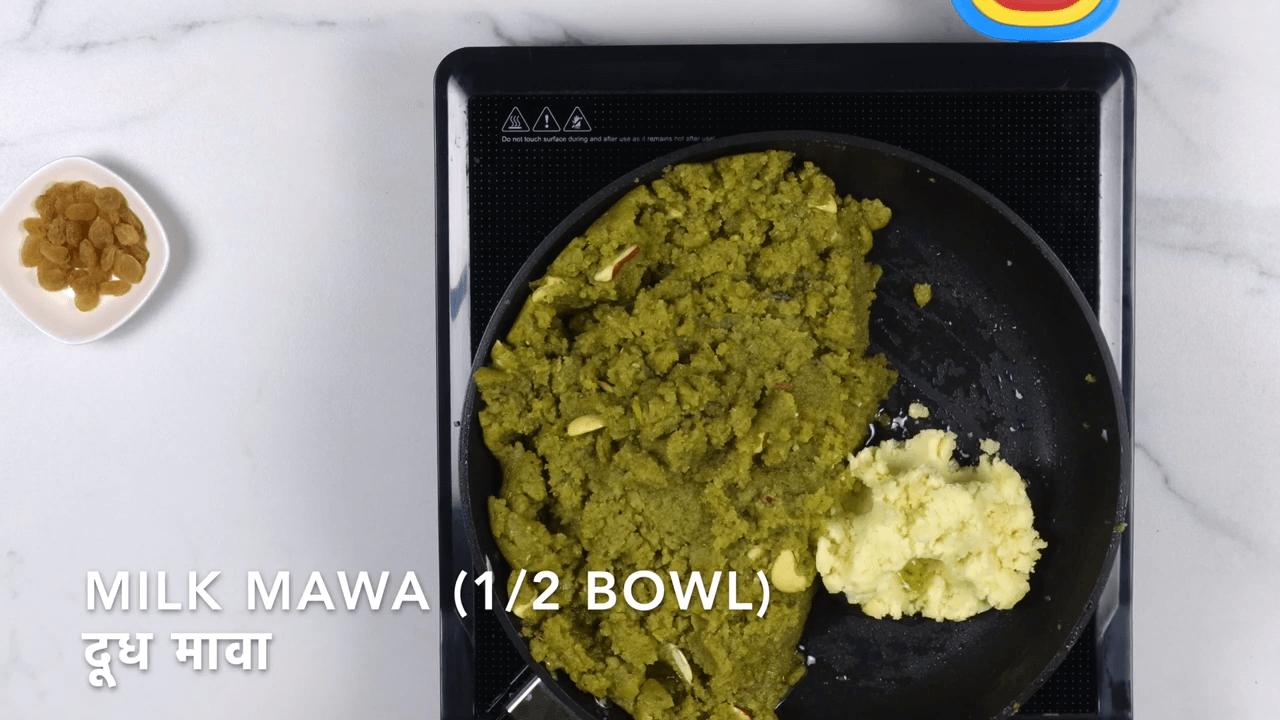 Green Moong Dal Halwa step-6