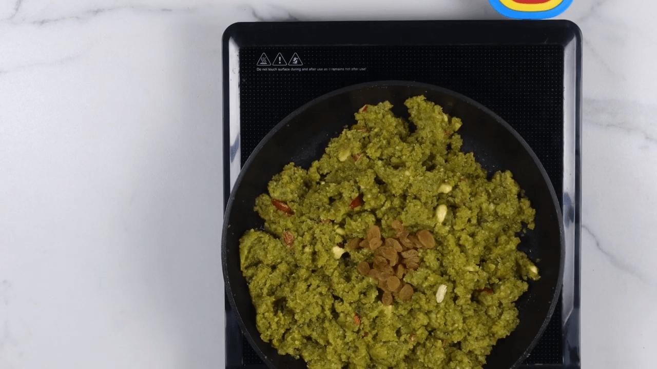 Green Moong Dal Halwa step-7