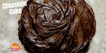 Eggless Dark Chocolate Cake Recipe Without Oven