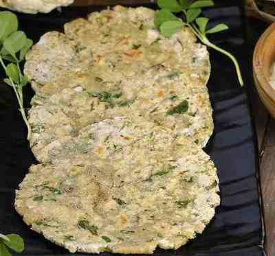 cauliflower methi roti
