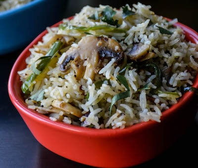 mushroom pepper fried rice