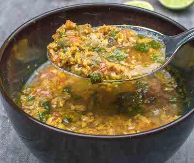 mutton kheema soup