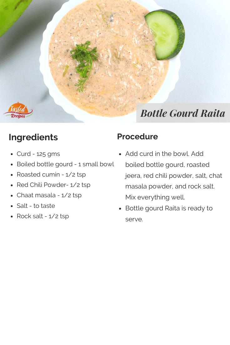 bottle gourd raita