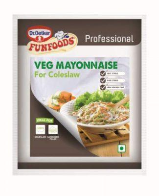 dr oetker funfoods professional veg mayonnaise coleslaw