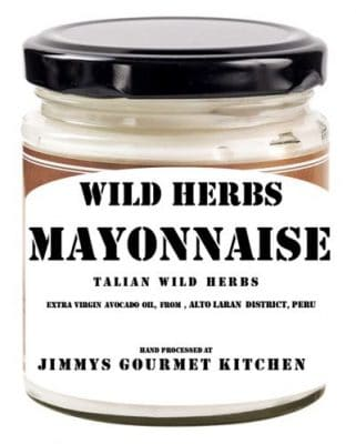 jimmy gourmet kitchen mayonnaise wild herbs
