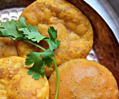 sweet potato masala puri