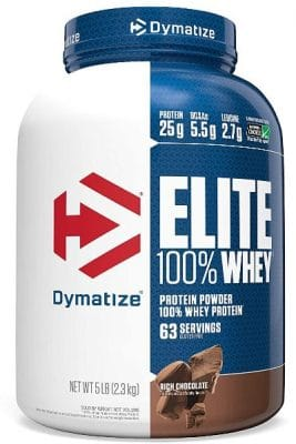 dymatiz nutrition elite whey protein powder