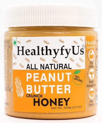 healthyfyus honey crunchy peanut butter