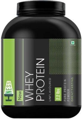 hness whey protein supplement powder