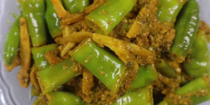 instant green Chili & ginger pickle
