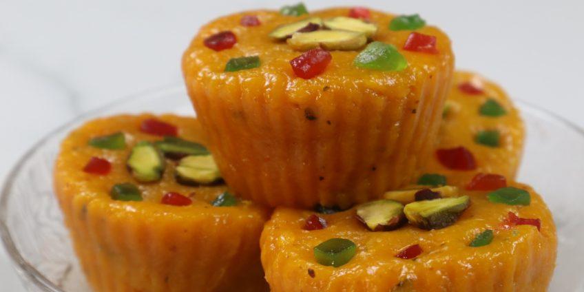 mango cupcakes burfi