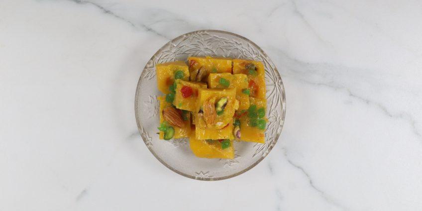 mango custard halwa