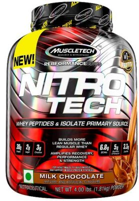 muscletech performance series nitrotech whey protein