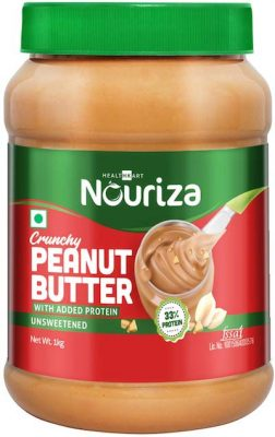 nouriza high protein natural peanut butter