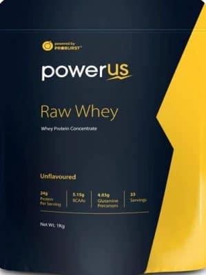 powerus raw whey protein powder