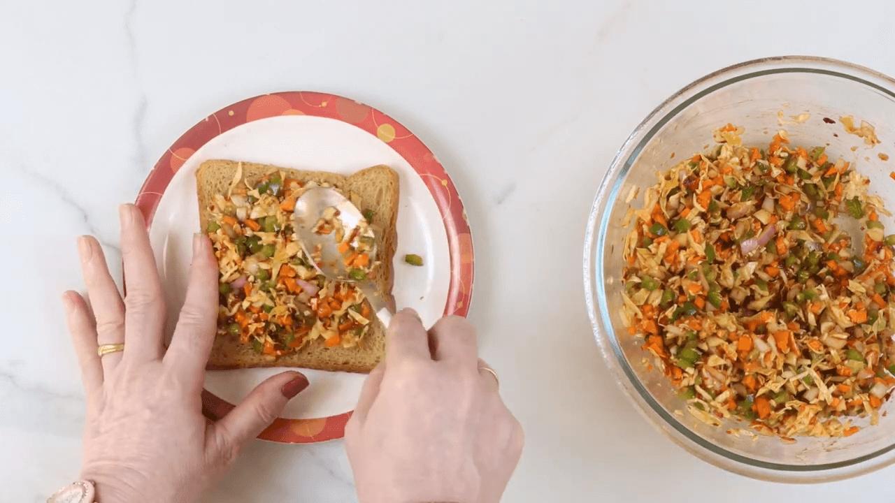Cheese Schezwan Sandwich step-3