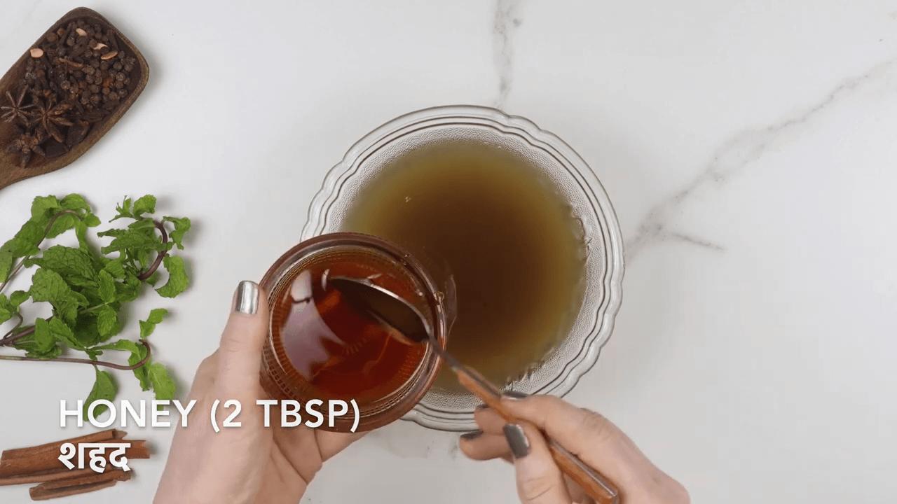 Mint Honey Giloy Kadha step-6