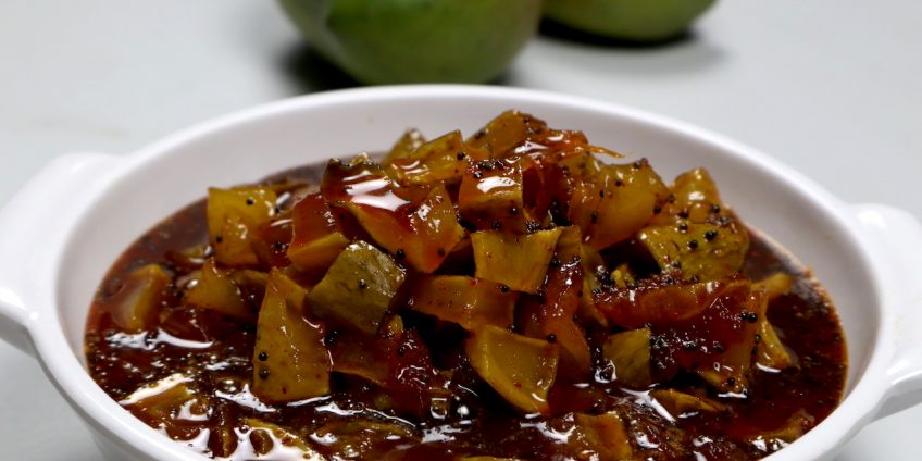 jaggery raw mango achaar