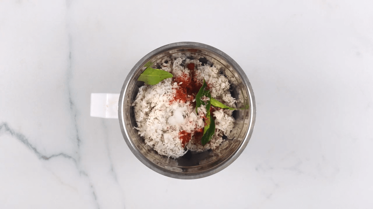 Red Coconut Chutney step-1