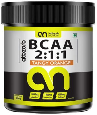 Abbzorb Nutrition BCAA 211 (Tangy Orange) (200 G)