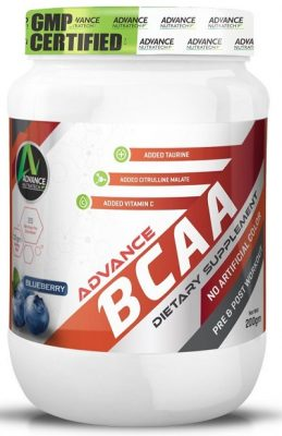 Advance Nutratech Bcaa 2 1 1 Supplement Powder (Blueberry, 200 G)