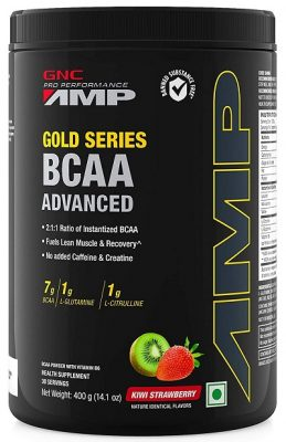 GNC Amp Gold Series BCAA Advanced - 400 gm (Kiwi Strawberry)