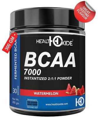 HealthOxide BCAA 7000 Amino Acid INSTANTIZED 211 POWDER - 300 gm (WATERMELON)