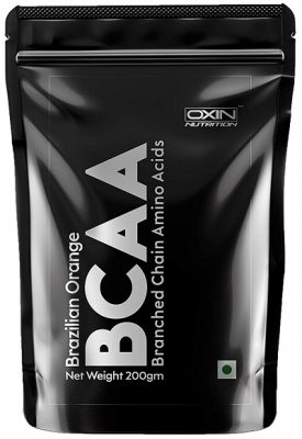 Oxin Nutrition BCAA Supplement 211 with Citrulline Malate Instantized BCAA Energy During Workout Zero Sugar BCAA 7000 Supplement Pre & Post Workout Supplement for Recovery 200gm (Brazilian Orange)