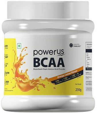 Powerus BCAA Supplement - 250 g (Orange)