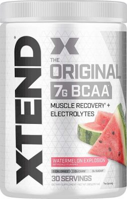 Scivation Xtend BCAAs (Pre-Workout, 7g BCAAs, 0g Carbs,Sugar & Calories, 3.5 Leucine, 2.5g L-Glutamine, 1g Citrulline Malate) - 420 g, 30 Servings (Watermelon)