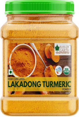 bliss of earth high curcumin certified organic lakadong turmeric powder