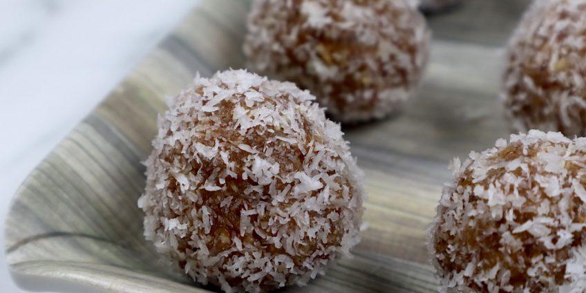 dates almond coconut energy balls