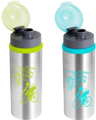 nanonine sprint single wall fliptop stainless steel water bottle