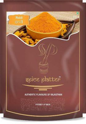 spice platter turmeric powder