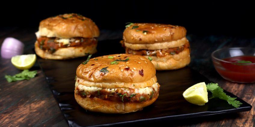 veg cheese burger