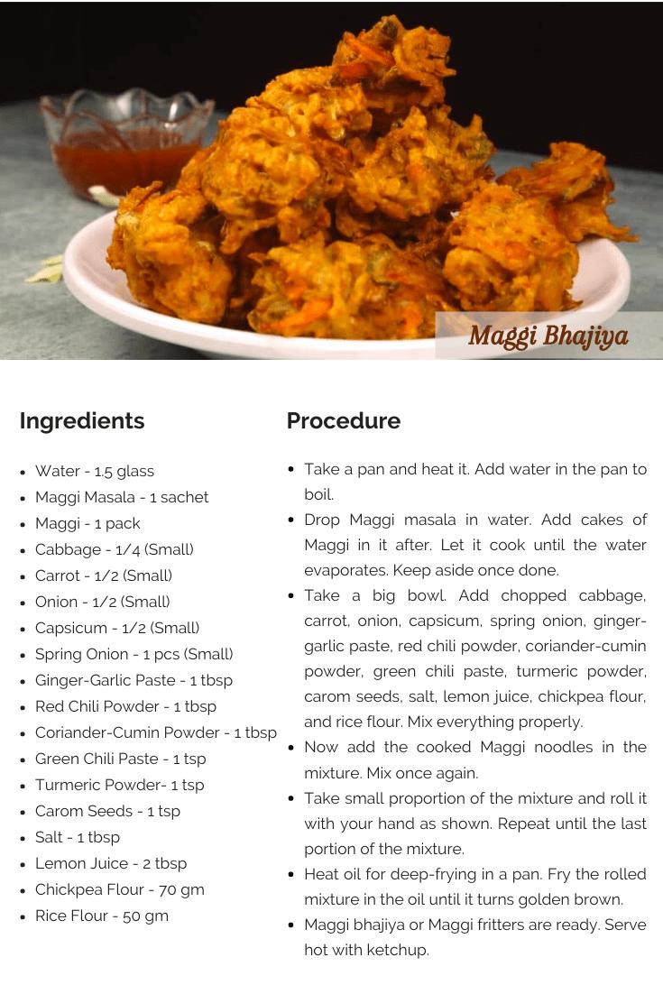Maggi Bhajiya Recipe Card