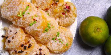 Orange Burfi or Santra Barfi with 4 Ingredients
