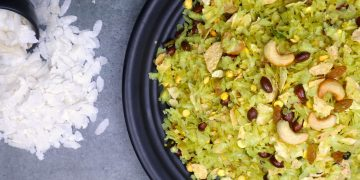 Poha Papad Chivda - Tea Time Snack One Can Store