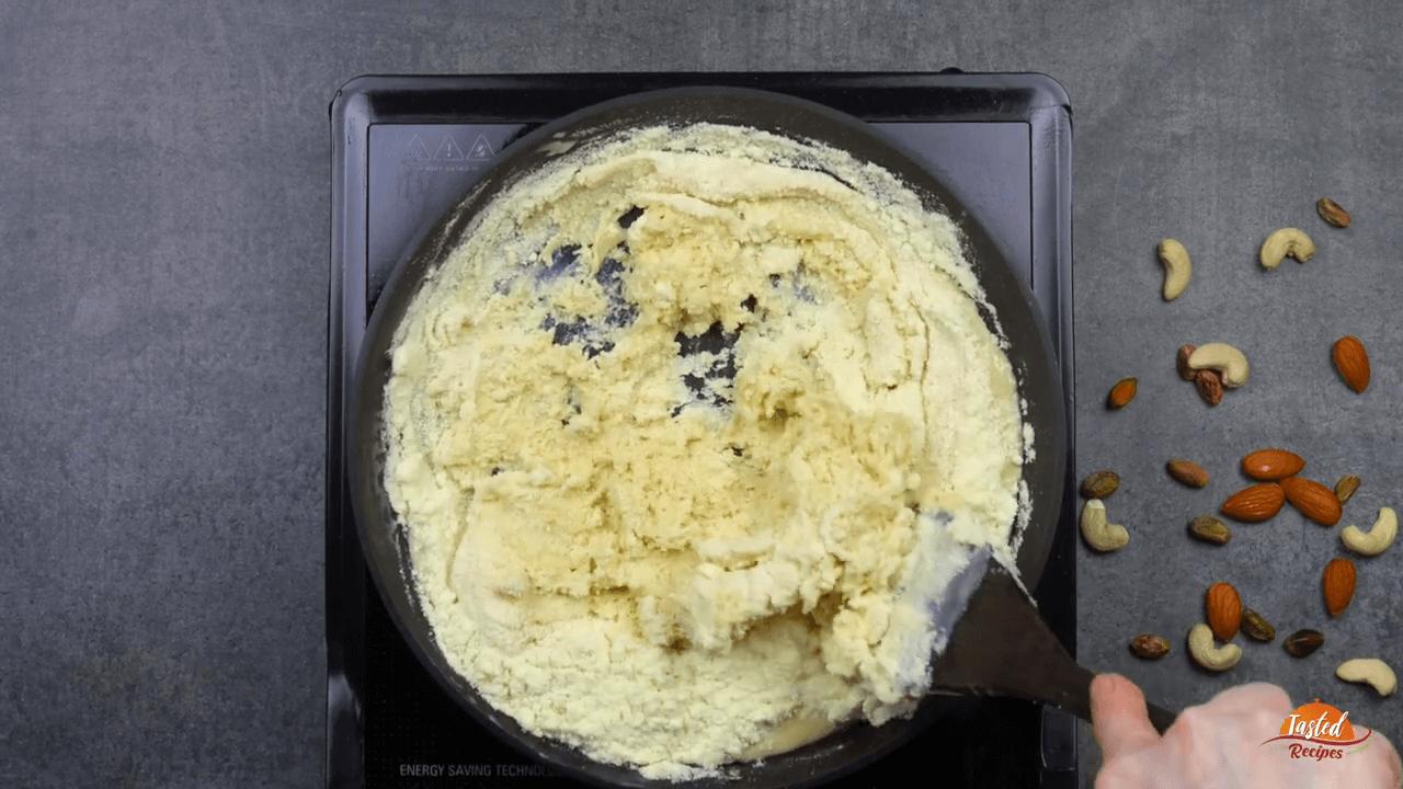 Milk Powder Peda step-2