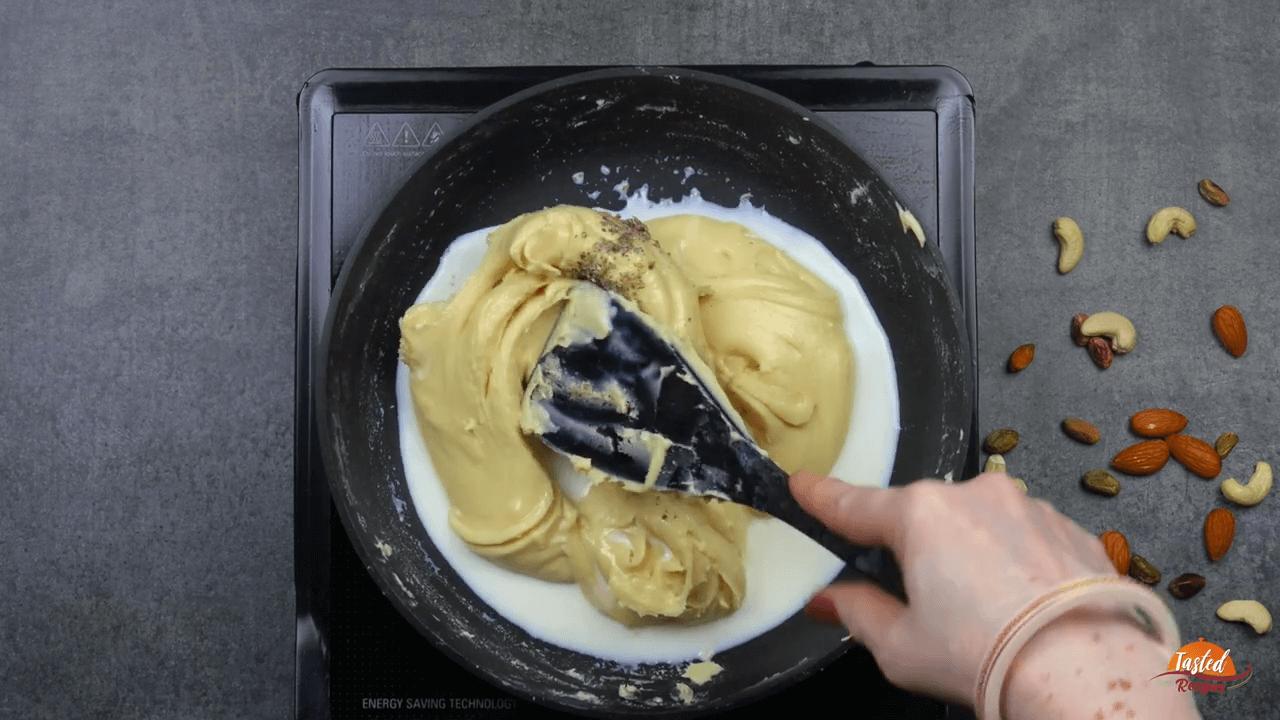 Milk Powder Peda step-3