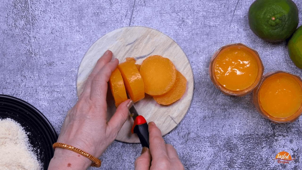 Orange Burfi step-5