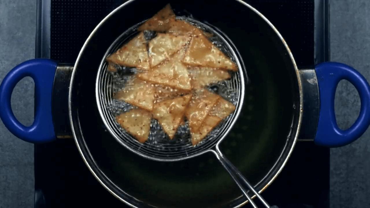 rice flour nacho step 8