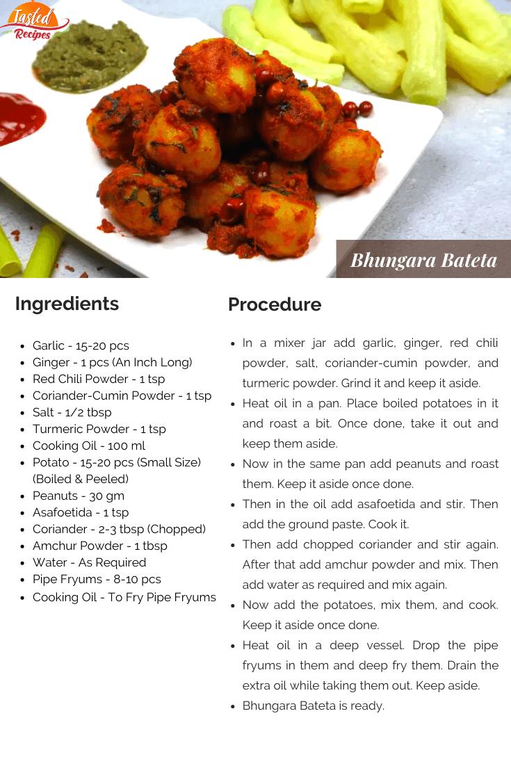 Bhungara Bateta Recipe Card