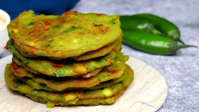Yellow Moong Dal Chilla