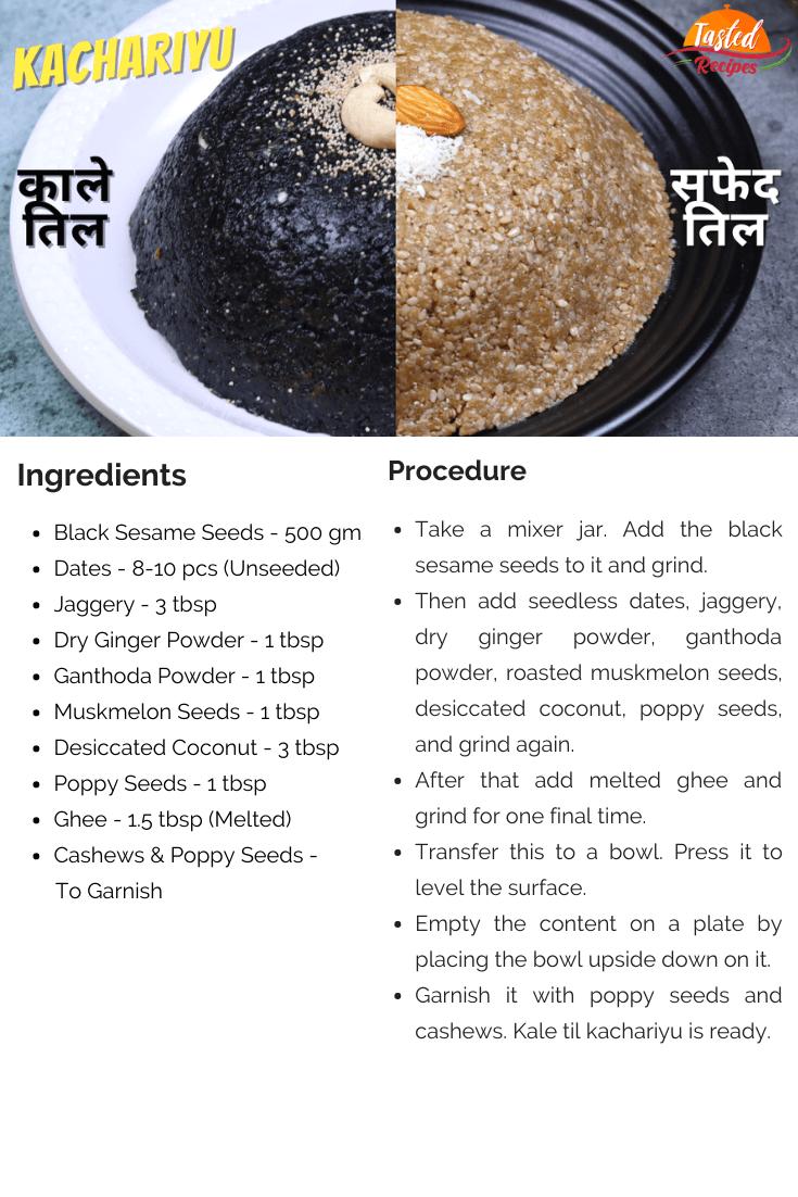Kale Til Kachariyu Recipe Card