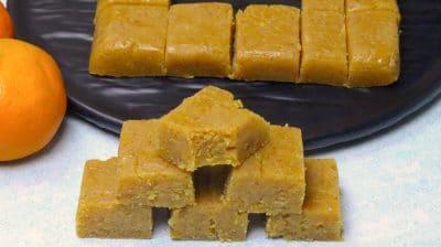 orange besan burfi
